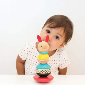 Wooden Rabbit Stacker Toy