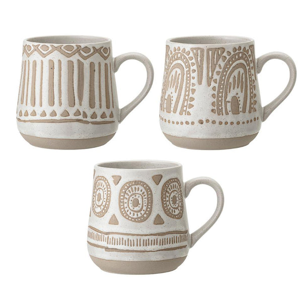 Cora Stoneware Mug Set of 3