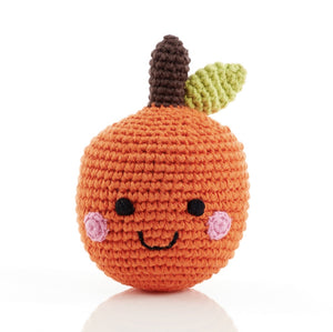 Organic Cotton Crochet Orange Fruit Rattle
