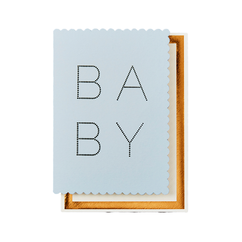 Card - Luxe Baby Blue
