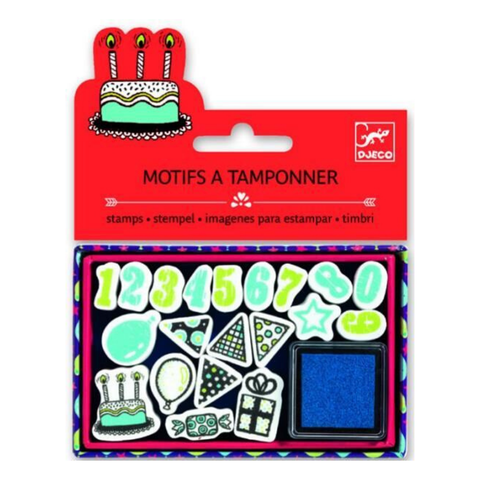 Birthday & Numbers Stamp Set with Ink Pad