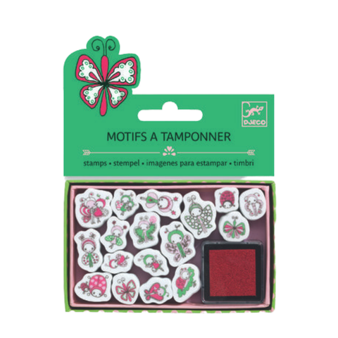 Mini Stamp Set -  Ladybirds and Butterflies