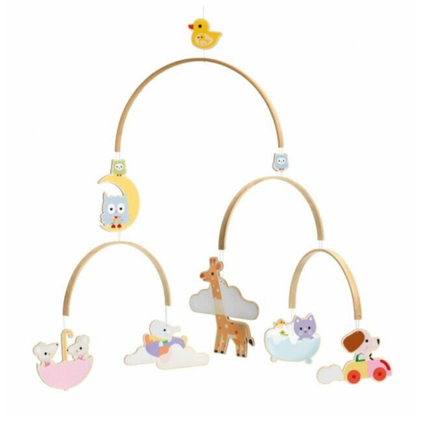Wooden Children's Mobile - Baby Animals