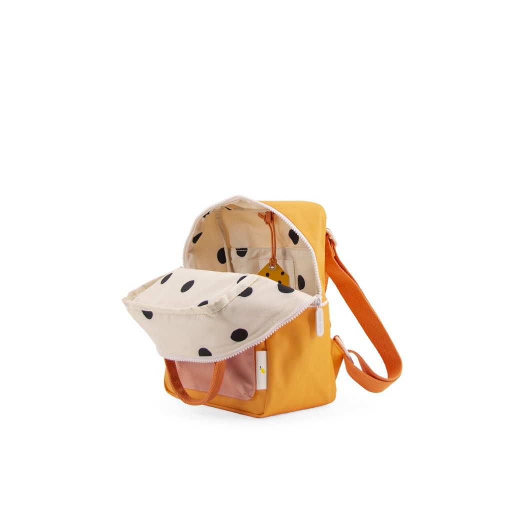 Wanderer Small Backpack - Sunny yellow /Carrot orange /Candy pink