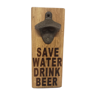 Whiskey and Wine Barrel Oak Stave Bottle Opener - Get Groovy Deals Texas