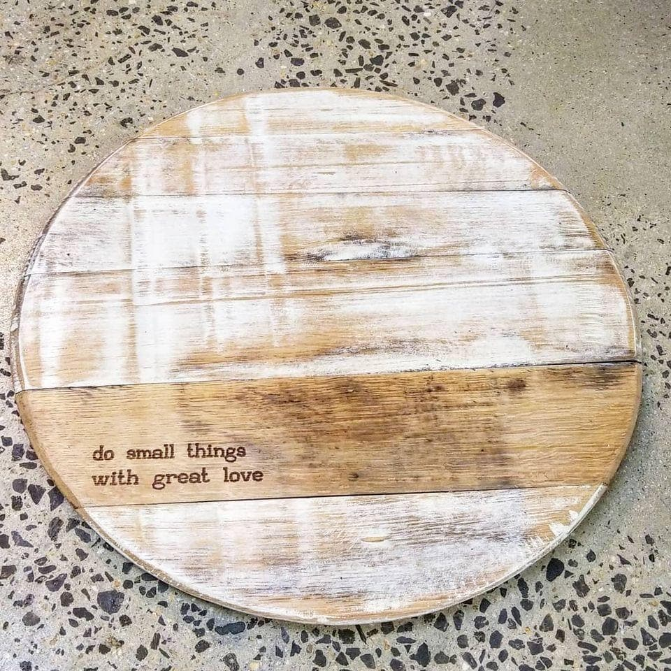Bourbon Barrel Head Lazy Susan - Get Groovy Deals Texas