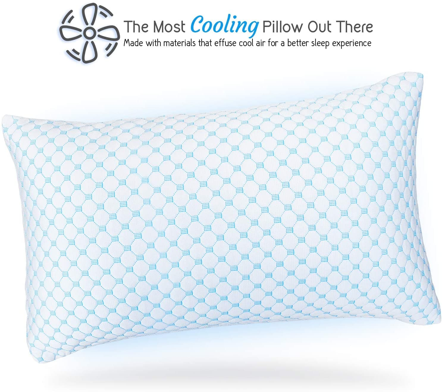 Gel Infused Shredded Memory Foam Adjustable Luxuriously Soft Bed Pillow Reversible Multi-Use Cool - Get Groovy Deals Texas