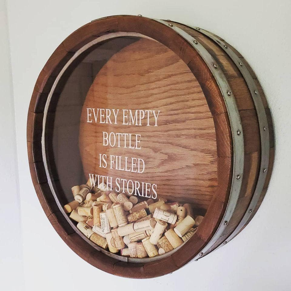Wine Barrel Cork Display Wall Decor - Get Groovy Deals Texas