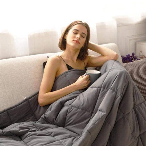 20lb Weighted Blanket w/FREE Minky Duvet - Get Groovy Deals Texas