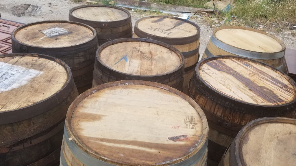 Genuine Bourbon & Whiskey Barrels-FREE SHIPPING -  Raw & Rustic - Gently Cleaned all bands fastened & secured Bands, Man Cave, Man Cave Bar, Whiskey Barrel, Wine Barrel, Mancave Bar, Bar Table, Patio Table, Barrel Table - Get Groovy Deals Texas