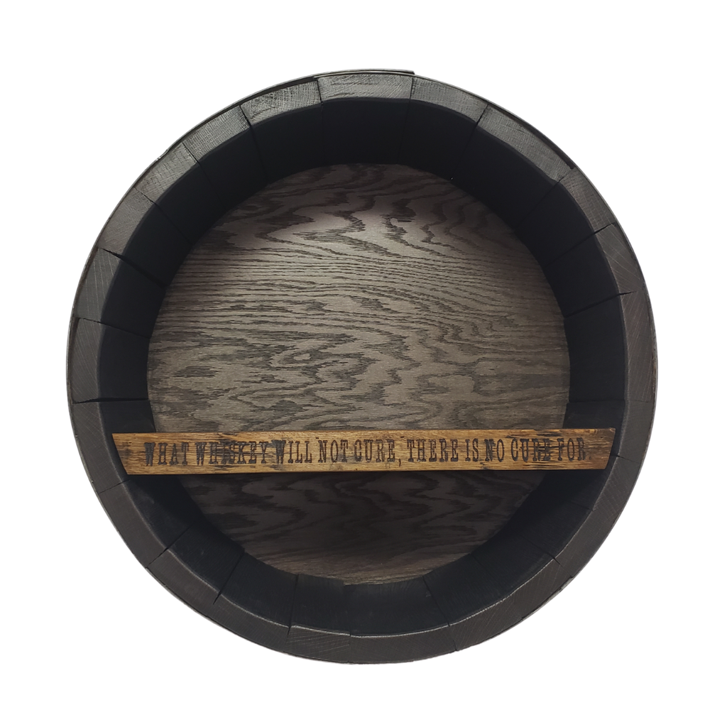 Whiskey Barrel Bar Shelf - Custom/Personalized and Non-Personalized - Get Groovy Deals Texas