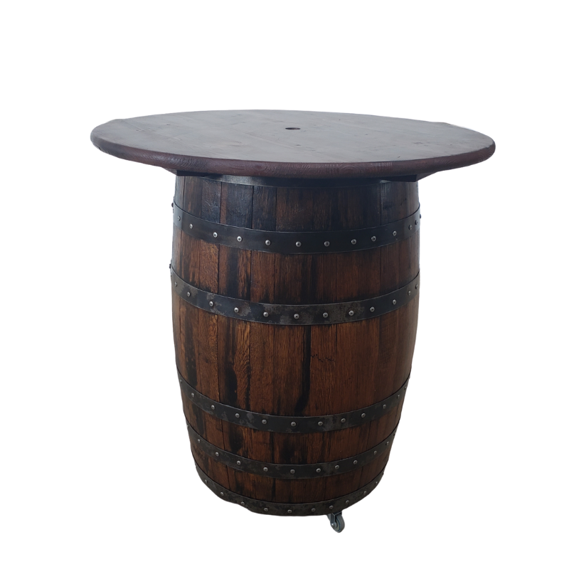 Rustic Whiskey Barrel Table - Game Room Table, Game Room Bar, Whiskey Barrel, Barrel Table, Wine Barrel, Pub Table, Gameroom Table, Gameroom Bar, Bar Table, Patio Table, Barrel Table - Get Groovy Deals Texas