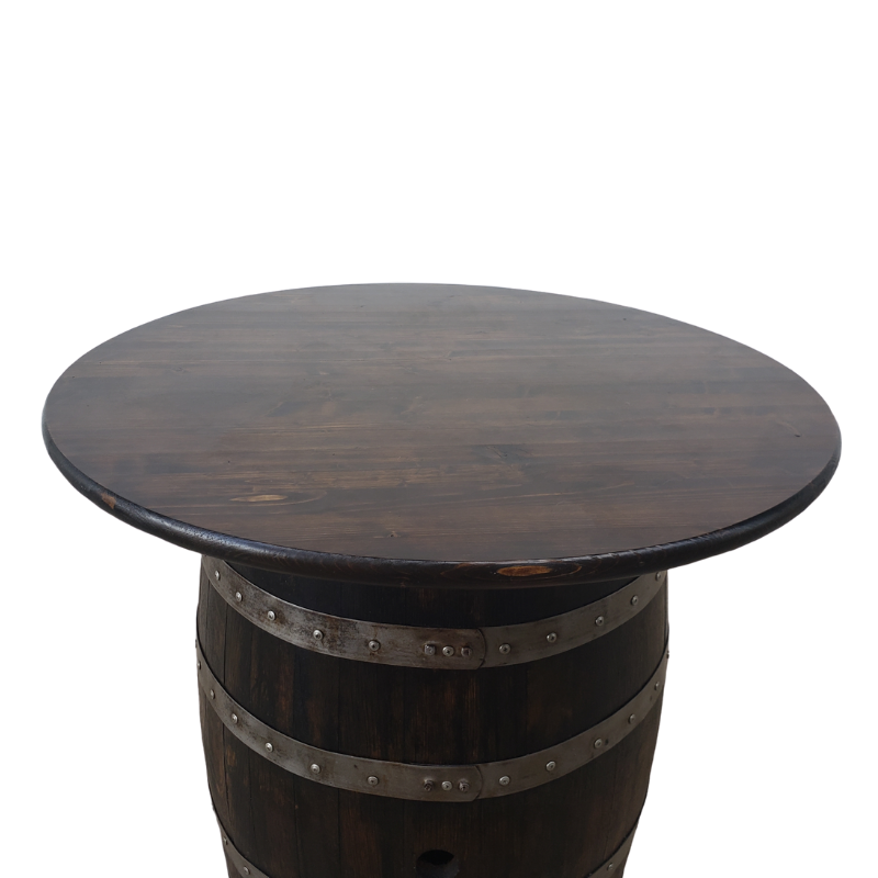 Barrel Table Top with Attached Cleats (Table Top Only- No Barrel) - Get Groovy Deals Texas