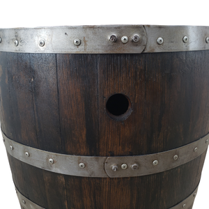 Rustic Whiskey Barrels Double Door Bar  - Man Cave Table, Man Cave Bar, Whiskey Barrel, Wine Barrel, Pub Table, Mancave Table, Mancave Bar, Bar Table, Patio Table, Barrel Table - Get Groovy Deals Texas