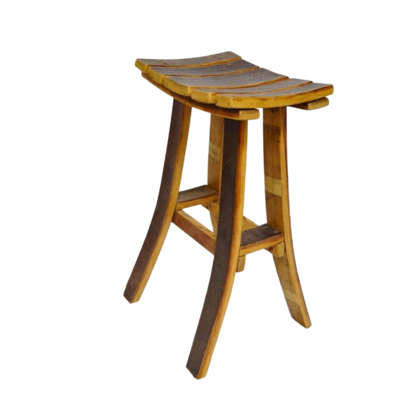 Whiskey Barrel Oak Stave Stool - No Back - Get Groovy Deals Texas