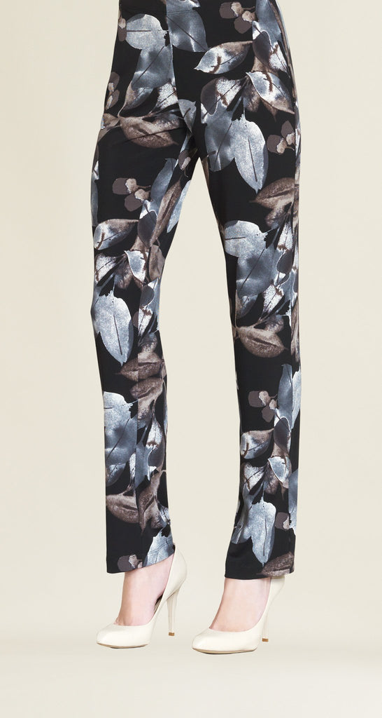 Soft Leaves Straight Leg Pant - Black/Taupe - Final Sale!