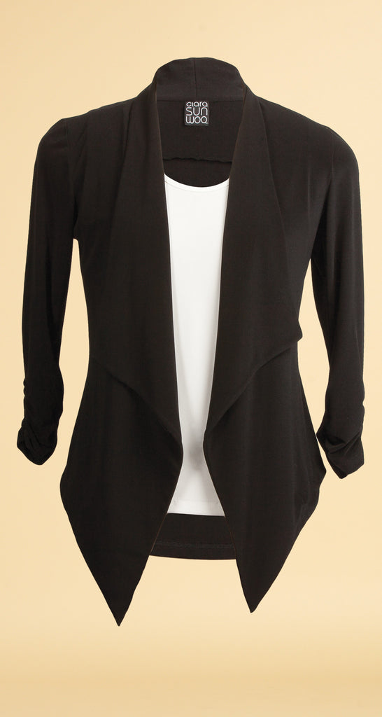 Tuxedo Knit Cardigan - KLG & Hoda's Featured Cardigan