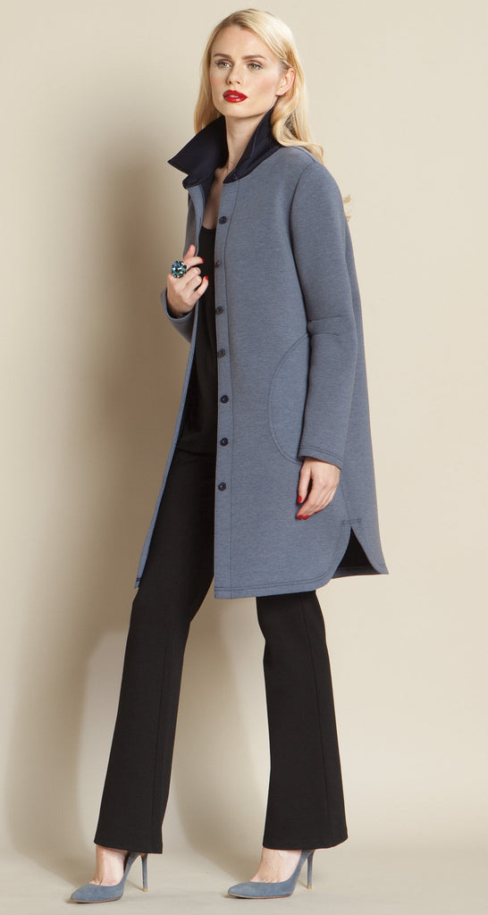 Modern Button Pocket Jacket - Blue