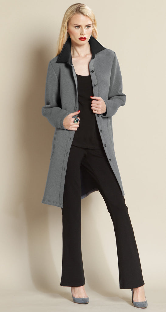 Modern Button Pocket Jacket - Grey
