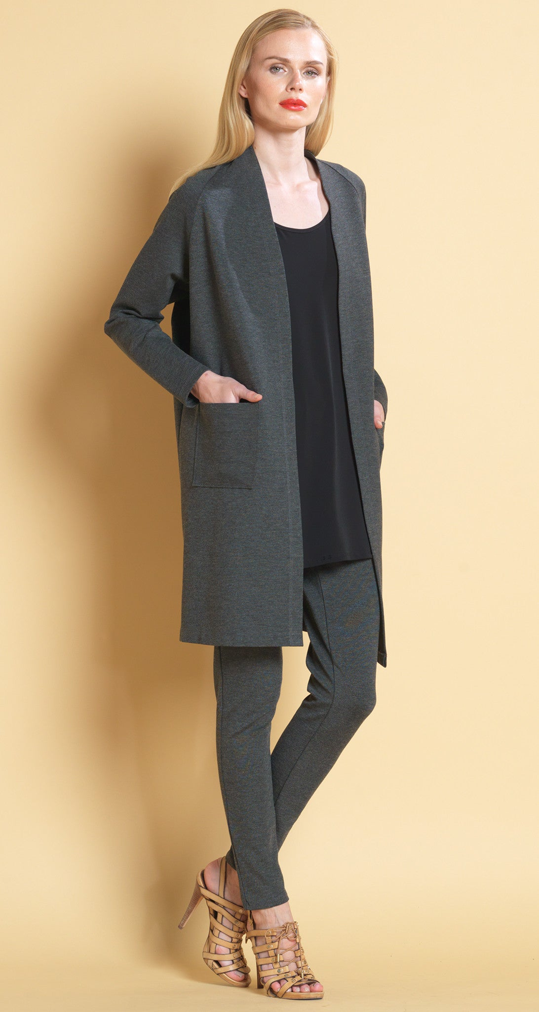 Ponte Classic Cardigan Charcoal - XS Final Sale!