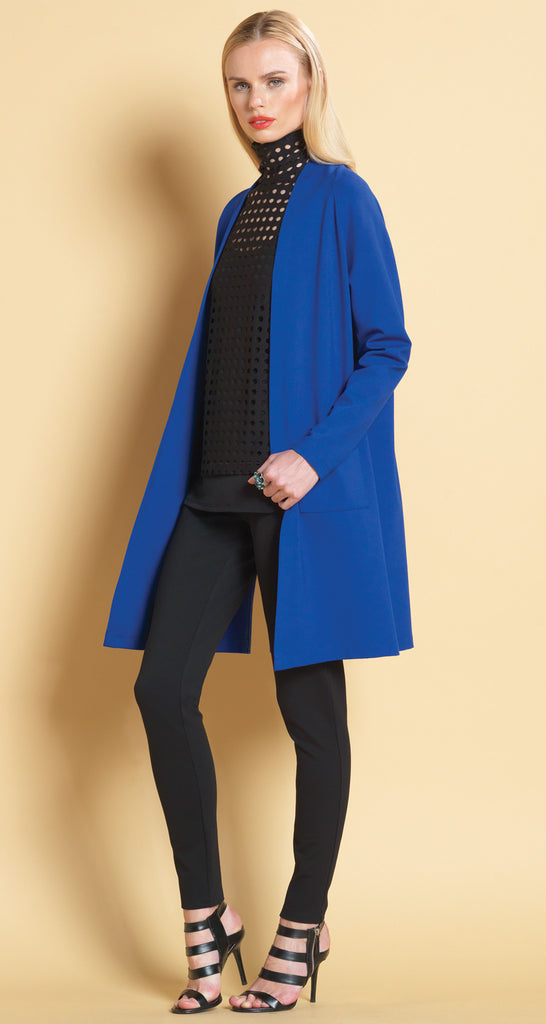 Classic Ponte Cardigan - Cobalt - Final Sale!