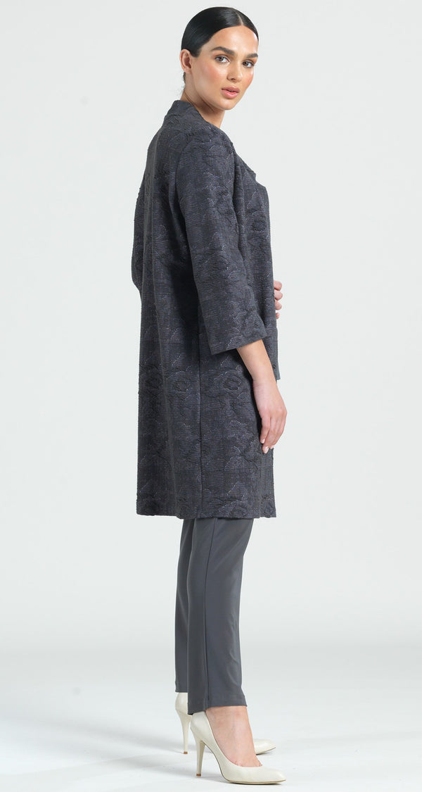 Puckered Jacquard Duster Pocket Cardigan - Final Sale! - Clara Sunwoo