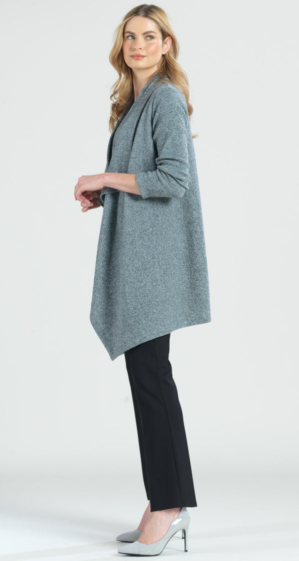 Cozy Sweater Drape Cardigan - Grey - Clara Sunwoo