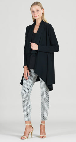Lightweight Sweater Drape Cardigan - Black