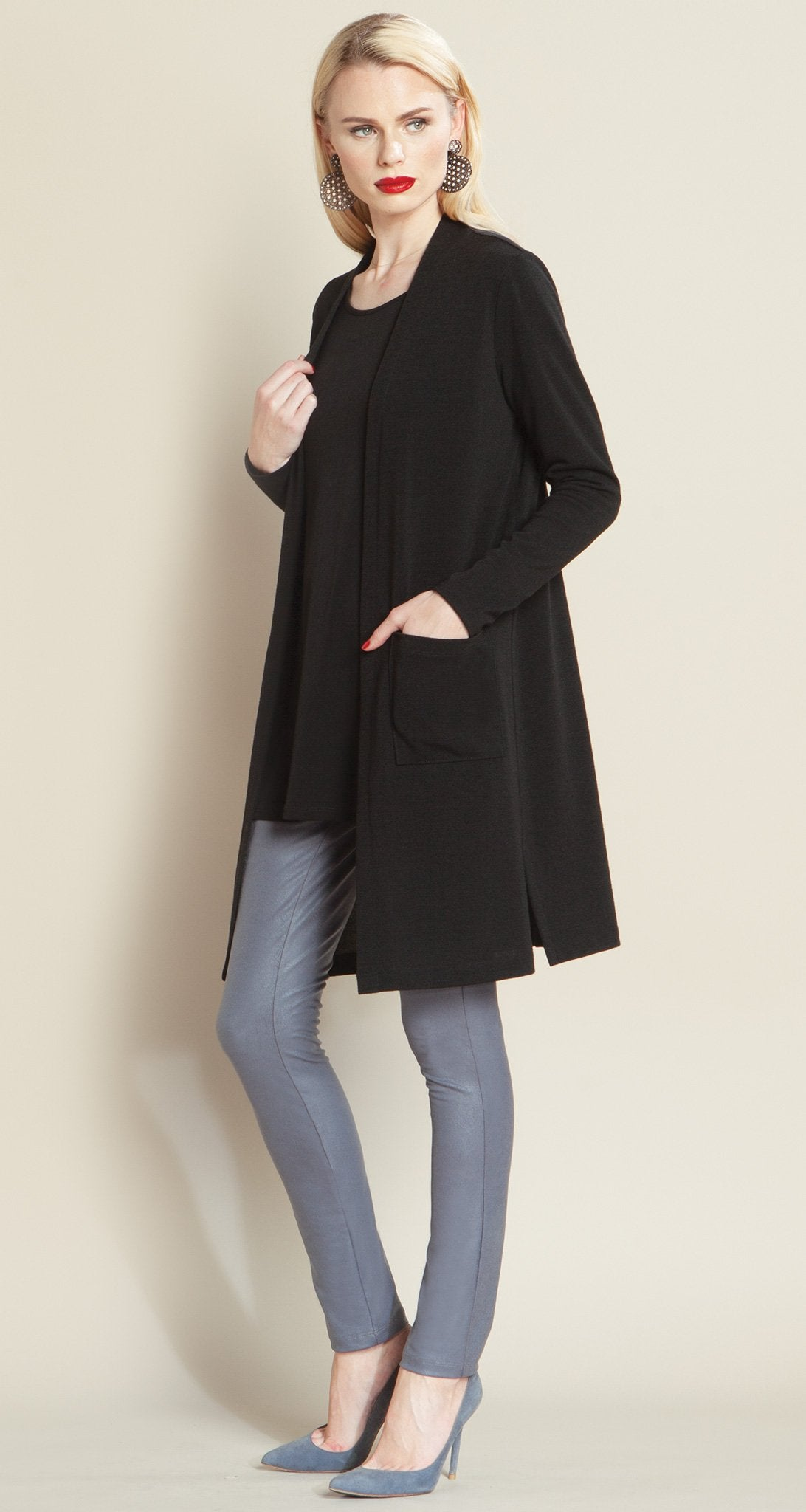 Modern Pocket Sweater Cardigan - Black - Clara Sunwoo