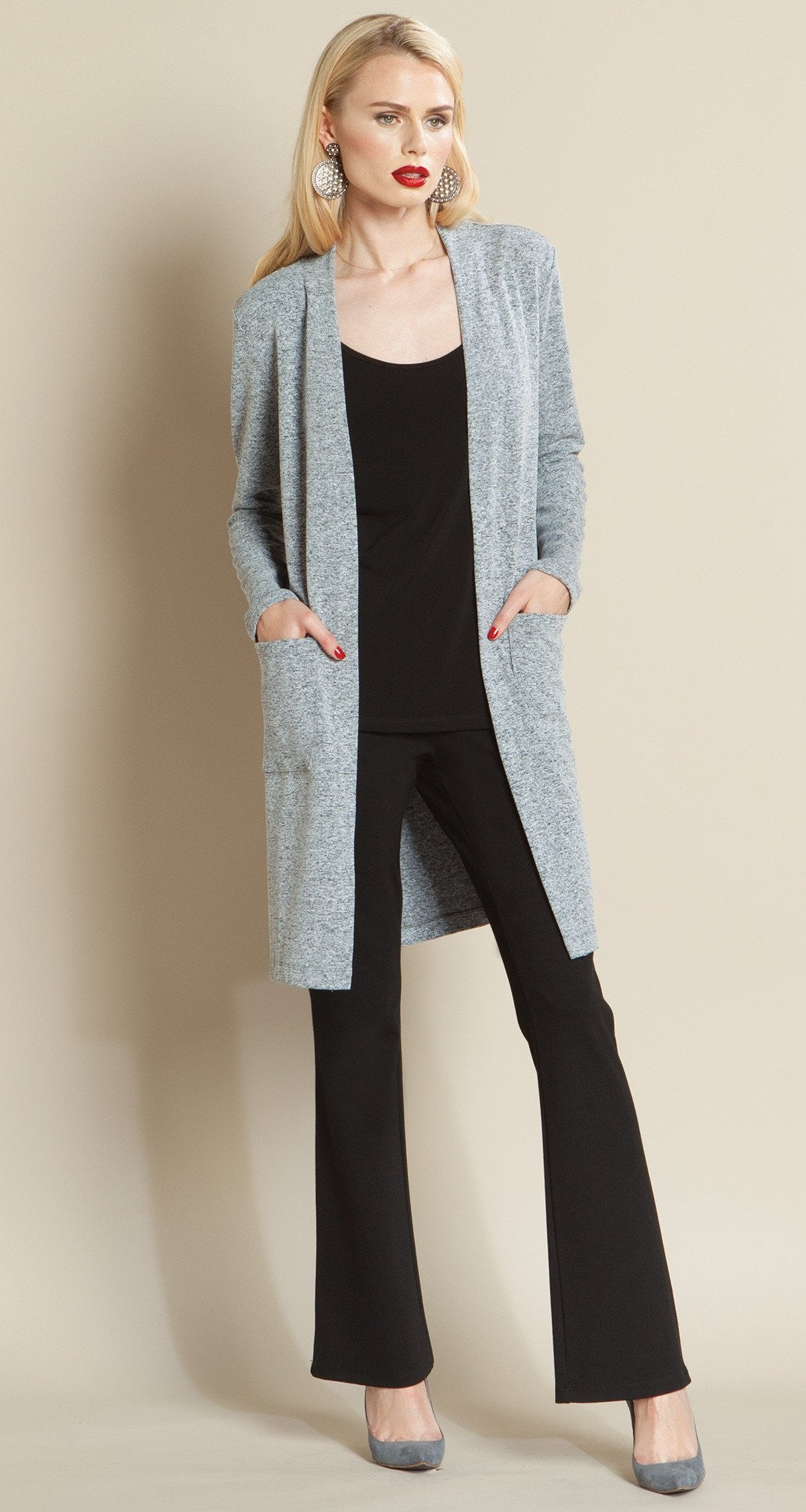 Modern Pocket Sweater Cardigan - Grey