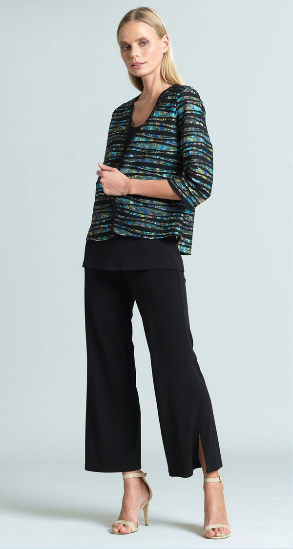 Bolero Style Jacket with Piping - Yellow Multi - Final Sale!
