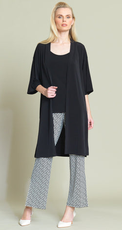 Solid Modern Kimono Duster - Black - Final Sale! - Clara Sunwoo