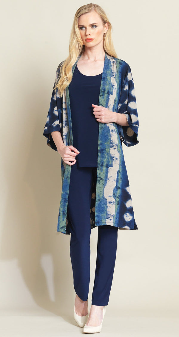 Diamond Denim Modern Kimono Duster - Final Sale! - Clara Sunwoo