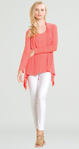 Drape Tunic Cardigan 2 PC Set