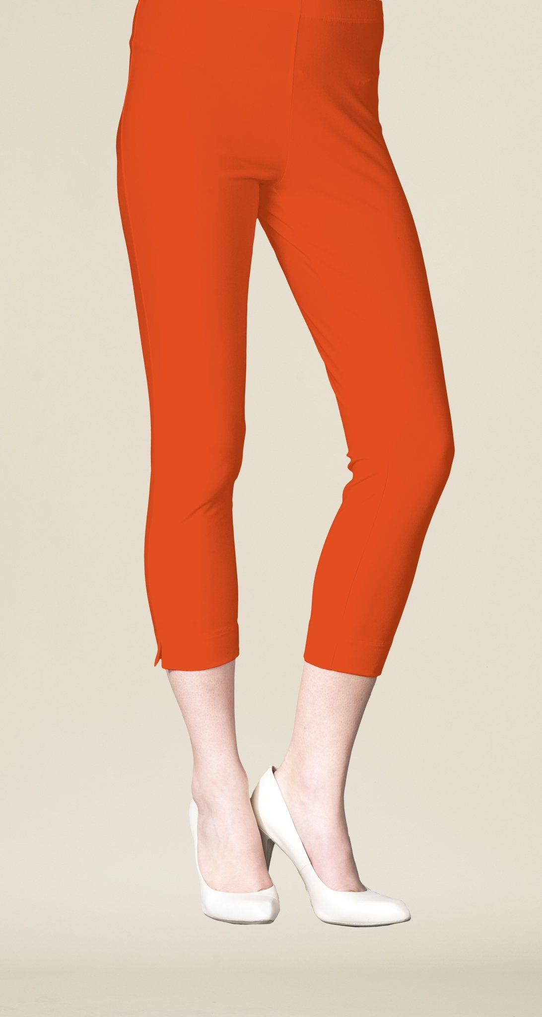 Pull On Capri - Orange- Final Sale!