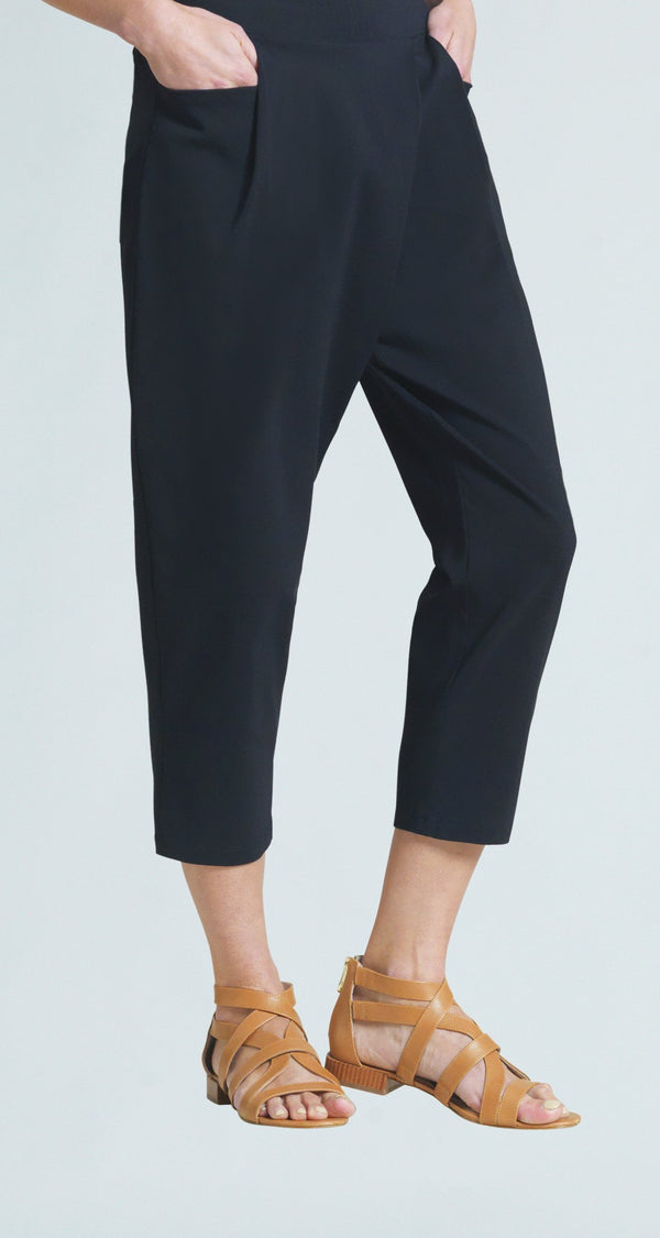 Techno Stretch Modern Crossover Midi Pocket Capri - Final Sale!
