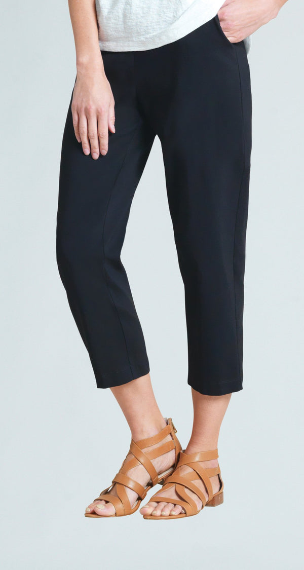 Techno Stretch Jogger Pocket Capri - Black - Final Sale!