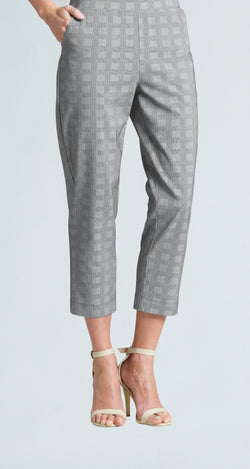 Techno Stretch Jogger Pocket Capri - Plaid - Final Sale!