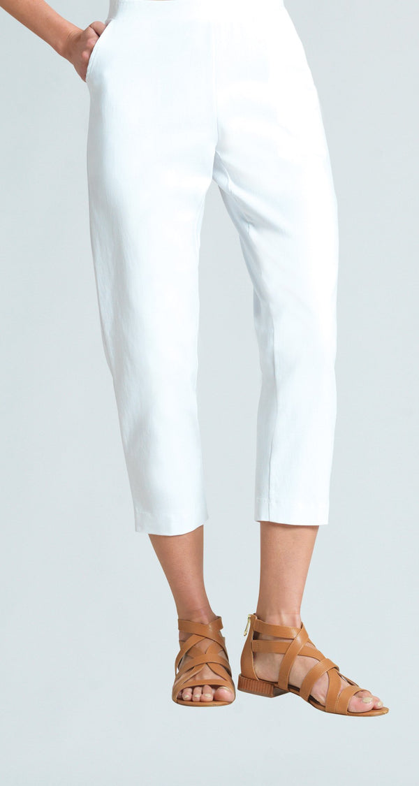 Techno Stretch Jogger Pocket Capri - White - Final Sale!