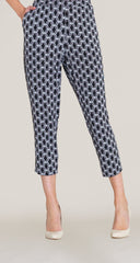 Honeycomb Print Jogger Pocket Capri - White/Black - Clara Sunwoo