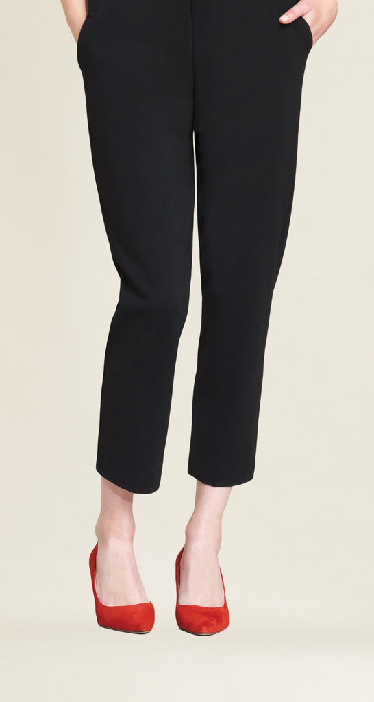 Ponte Jogger Pocket Capri - Black