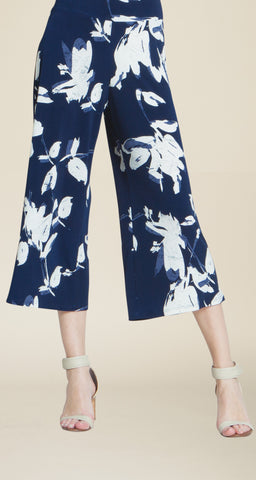 Floral Print Pull On Gaucho