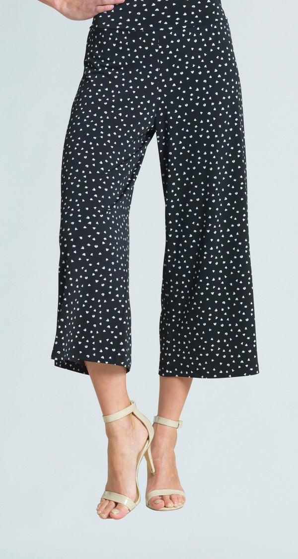 Mini Tulip Print Modern Pull On Gaucho Pant
