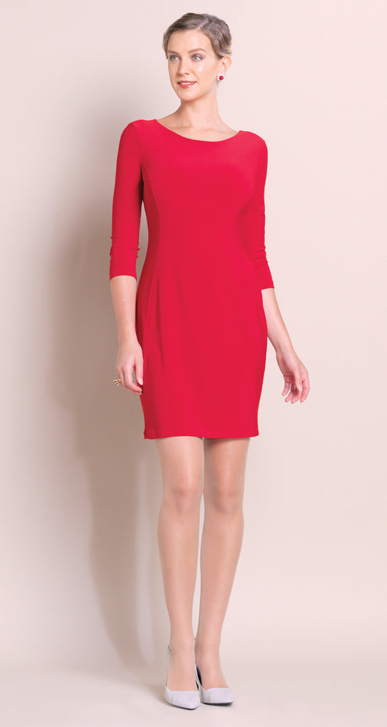 Classic Scoop Dress - Red - Final Sale