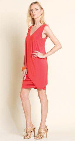 Sleeveless V-Neck Ruched Dress - Clara Sunwoo