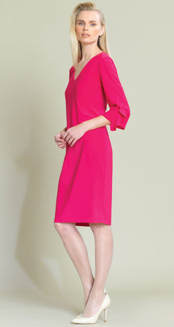 Ruffle Cuff Dress - Pink - Limited Sizes - XS, 1X