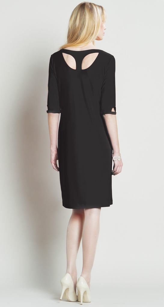 Modern Cut Out Dress - Black - Final Sale!
