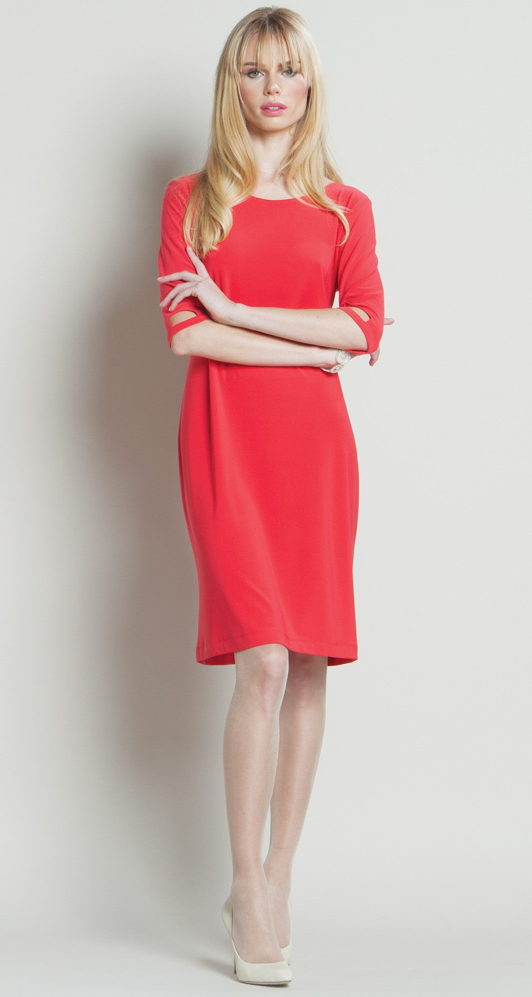 Modern Cut Out Dress - Coral