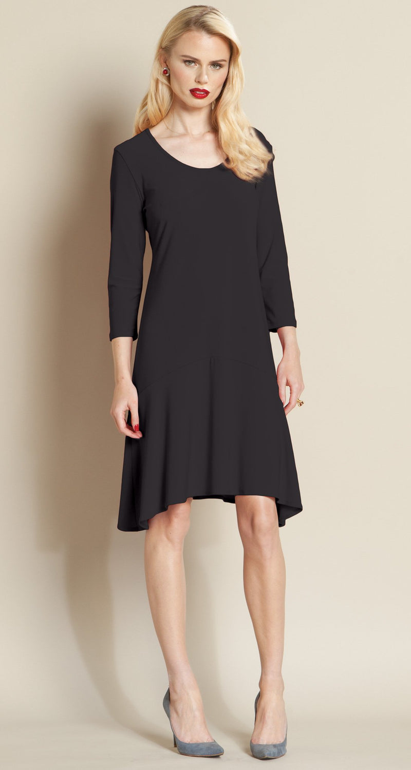 Vintage Inspired Flounce Dress - Black - Clara Sunwoo