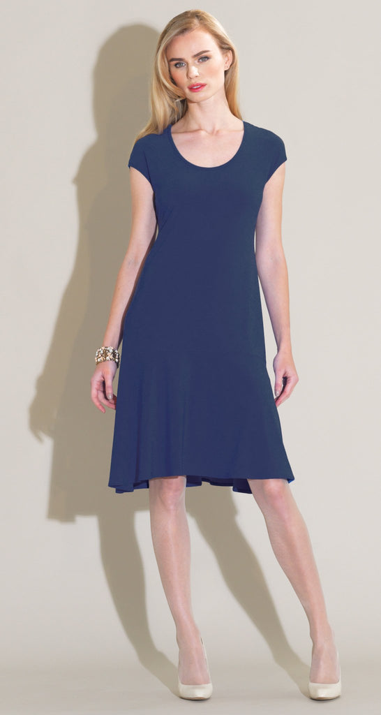 Flounce Dress - Navy - Final Sale!